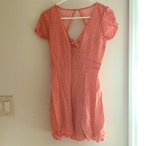 Abercrombie and Fitch pink & white polka dot dress
